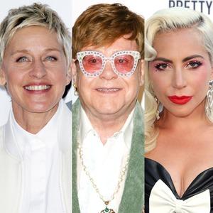 Elton John, Ellen Degeneres, Lady Gaga