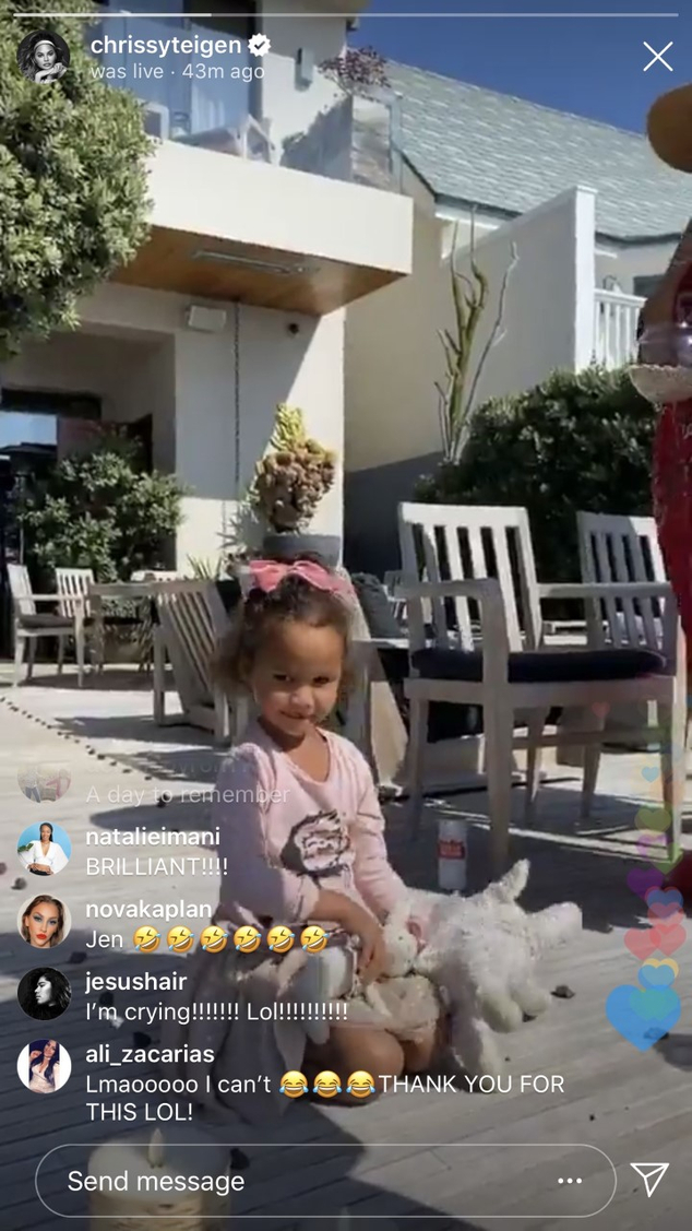 Chrissy Teigen Instagram Stories