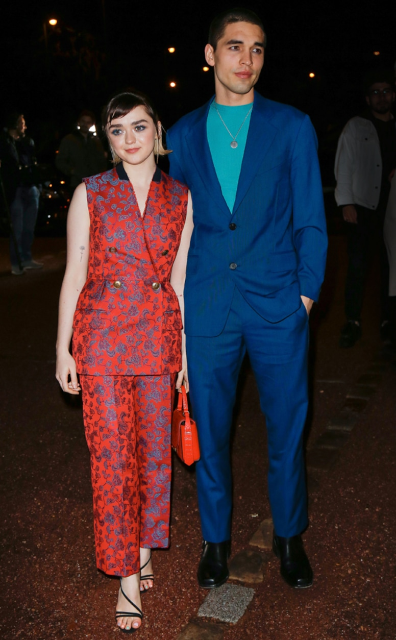 Maisie Williams, Reuben Selby, 2020 Paris Fashion Week, Celebrities at Fashion Week