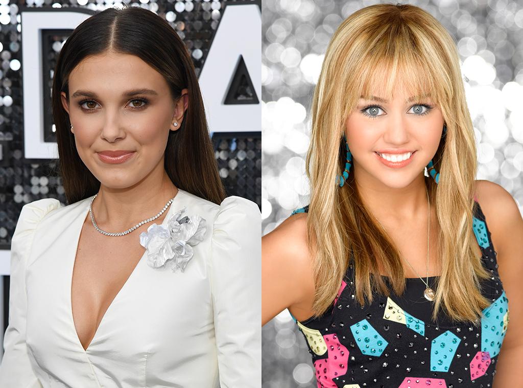 Millie Bobby Brown, Hannah Montana, Miley Cyrus