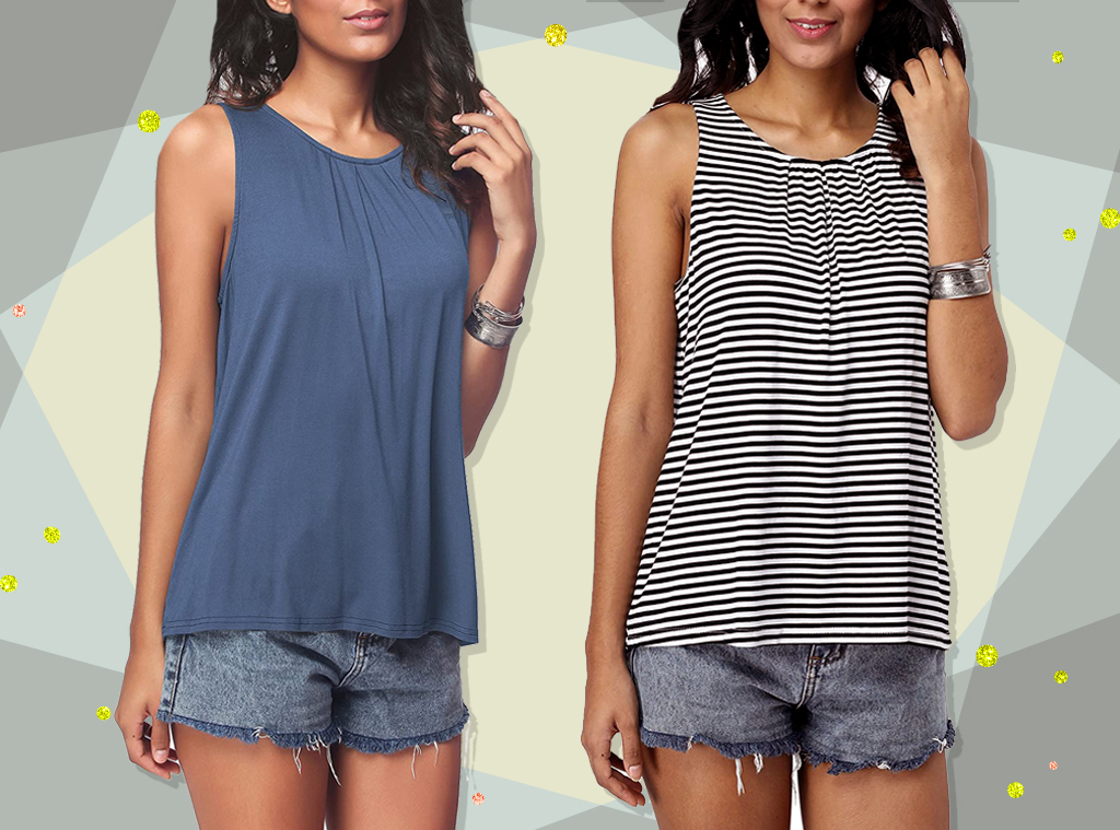 E-COMM: Pleated Tank 5-Star Amazon Reviews Collage