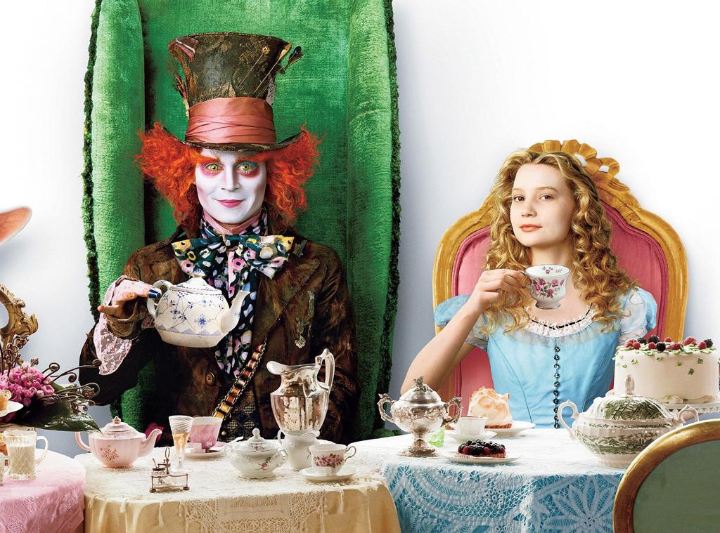 Johnny Depp, Mia Wasikowska, Alice In Wonderland, 2010