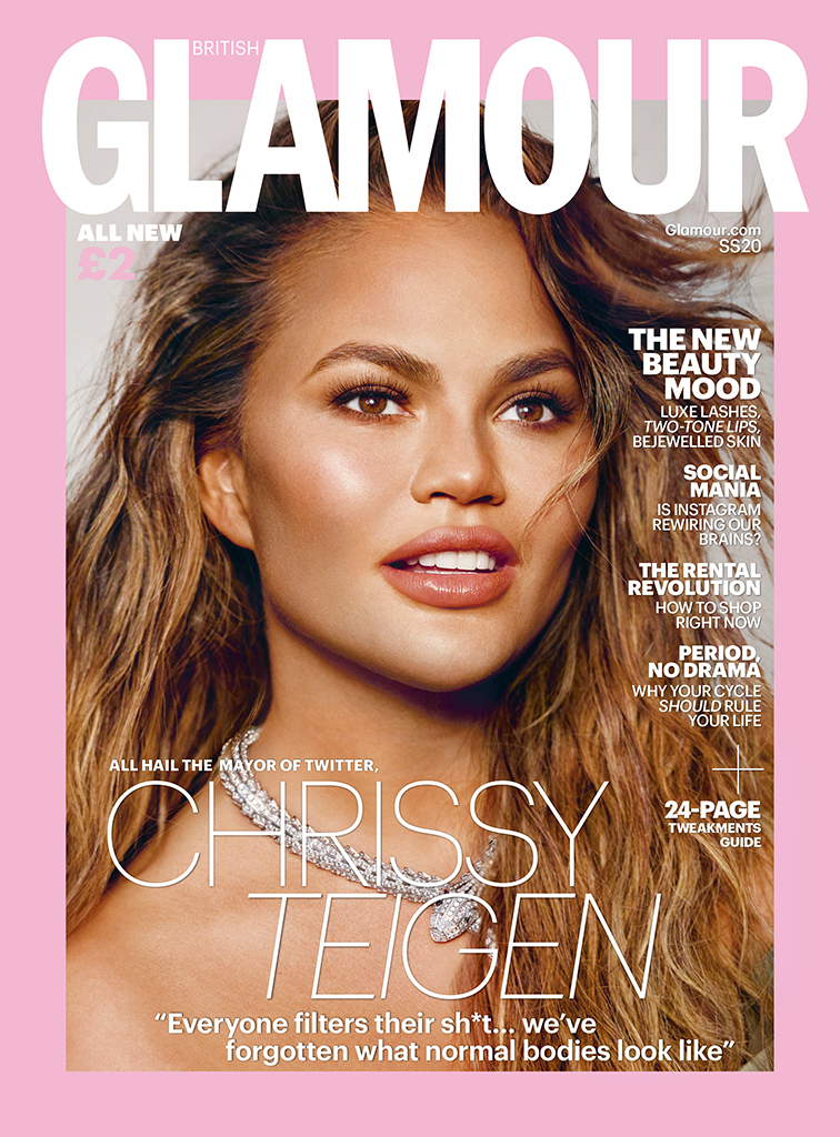 Chrissy Teigen, Glamour UK, Spring/Summer 2020 cover