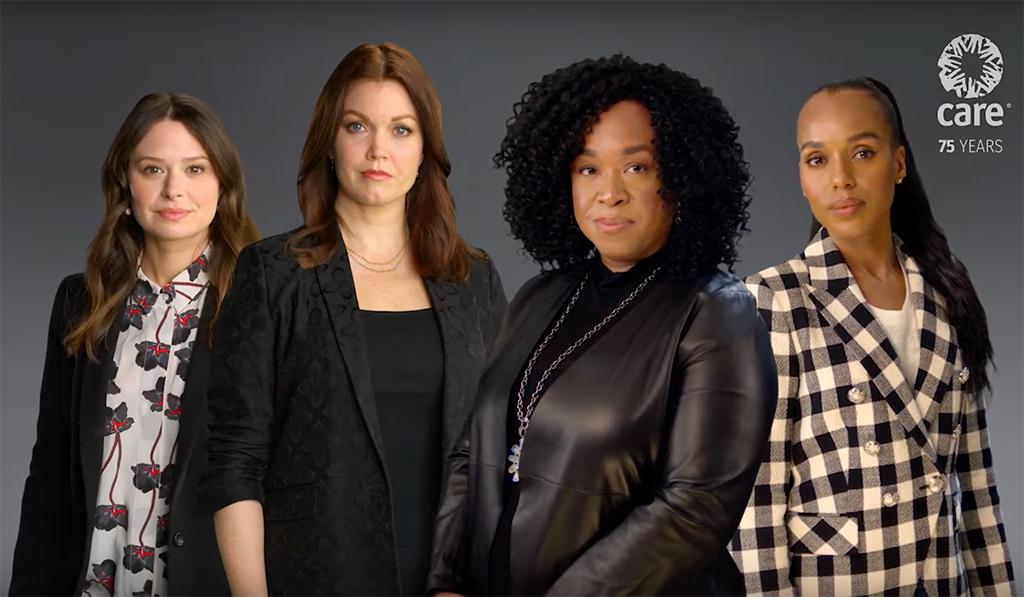 Kerry Washington, Bellamy Young, Katie Lowes, Shonda Rimes, Scandal, Reunion, Women Equal PSA