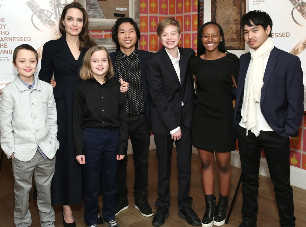 Angelina Jolie with children