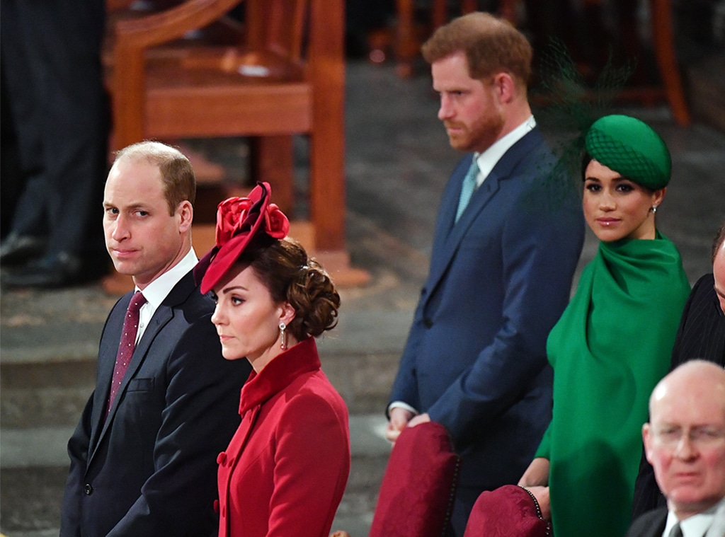 Prince William, Kate Middleton, Prince Harry, Meghan Markle, Commonwealth Day Service 2020