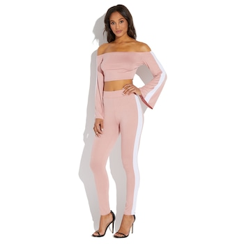 Kendra Wilkinson Home Must-Haves, Off the shoulder top and legging set