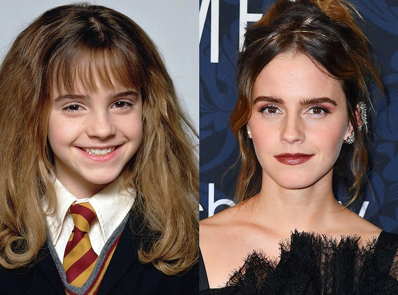 Emma Watson - Harry Potter kids then and now