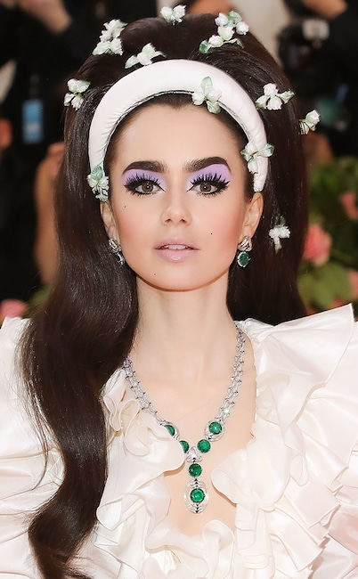 Lily Collins, 2019 Met Gala, Beauty
