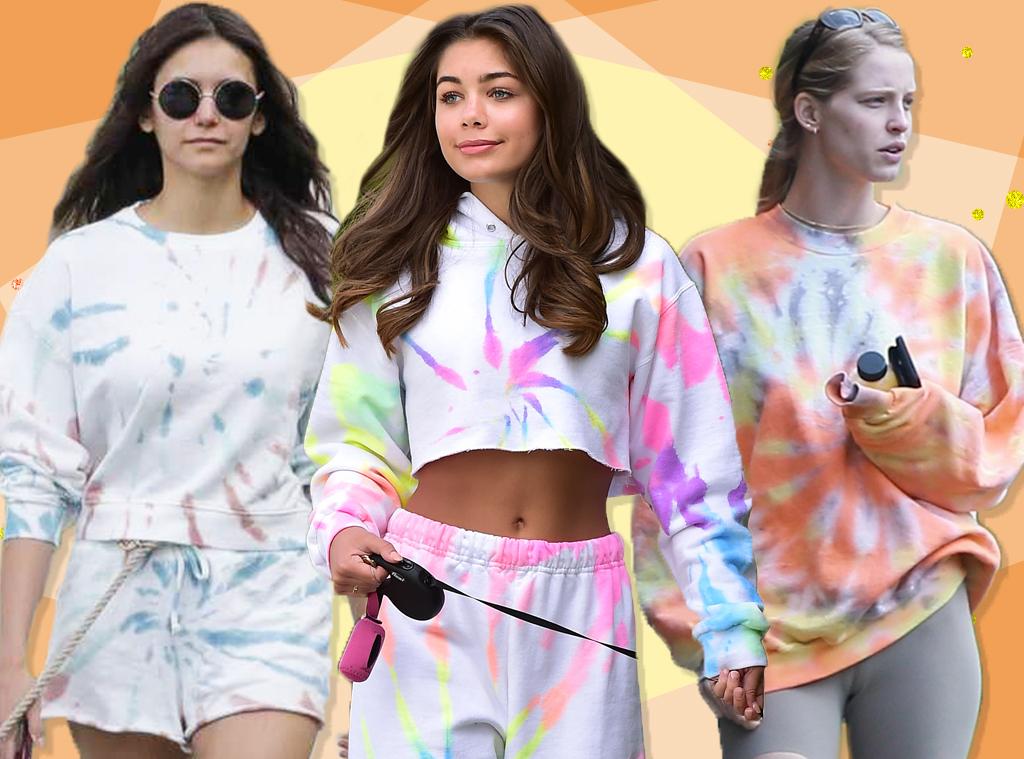 EComm, Nina Dobrev, Hannah Ann, Abby Champion, Tie Dye Loungewear, Collage