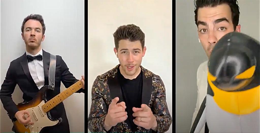 John Krasinski's virtual prom, Jonas Brothers