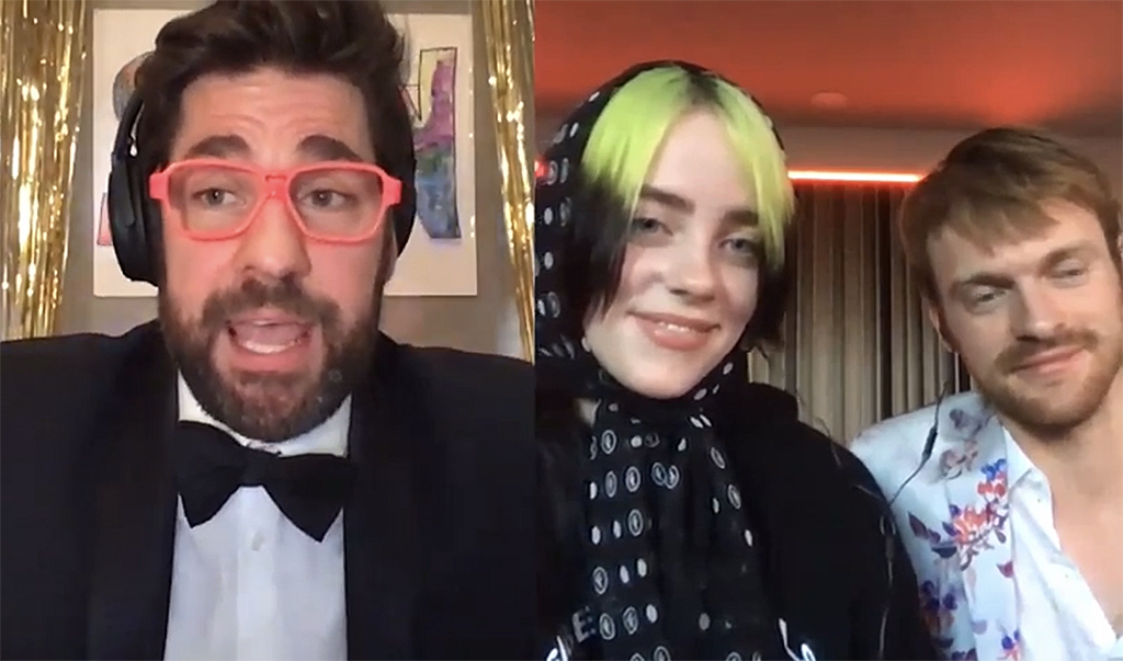 John Krasinski's virtual prom, Billie Eilish
