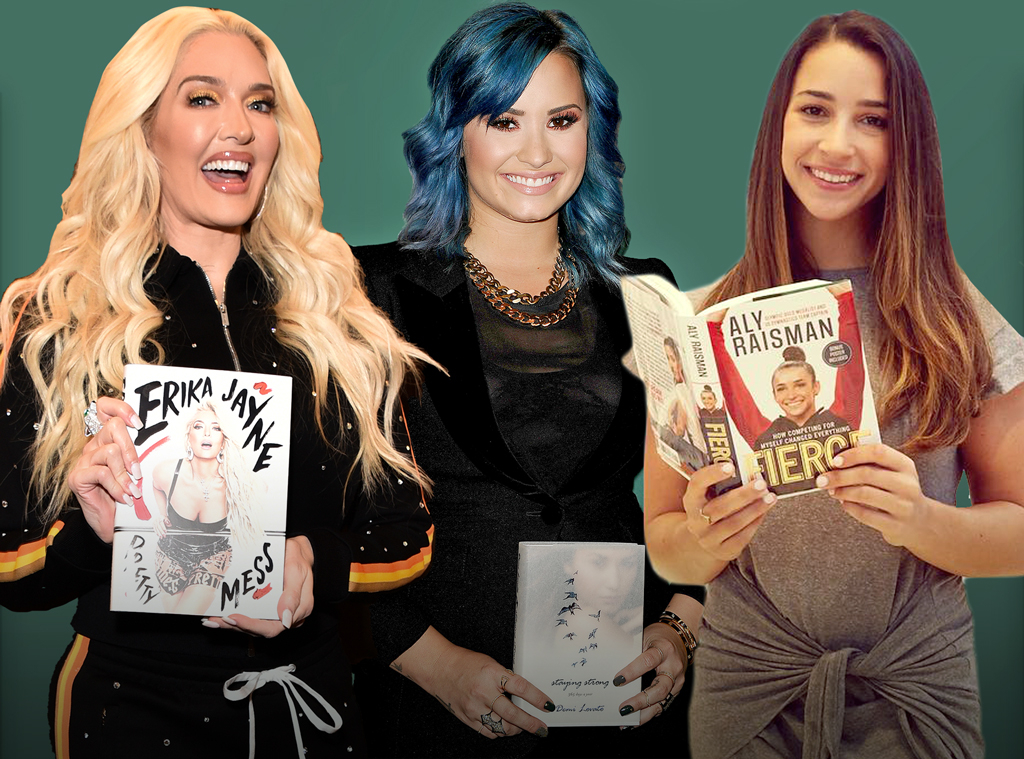E-Comm: Celebs' Juiciest Tell-All Books, Demi Lovato, Erika Jayne, Aly Raisman