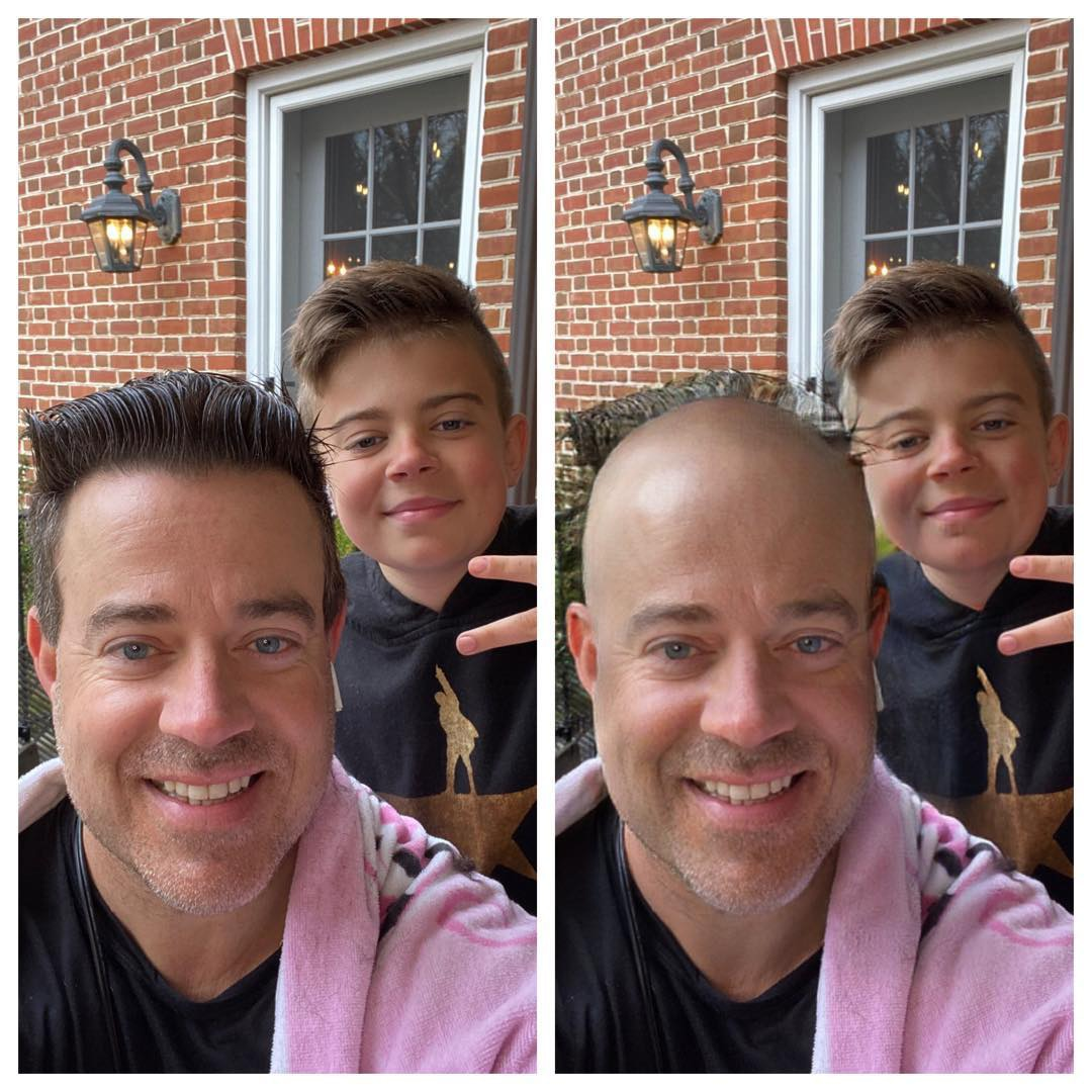 Carson Daly, Celebrity At-Home Hair Transformation