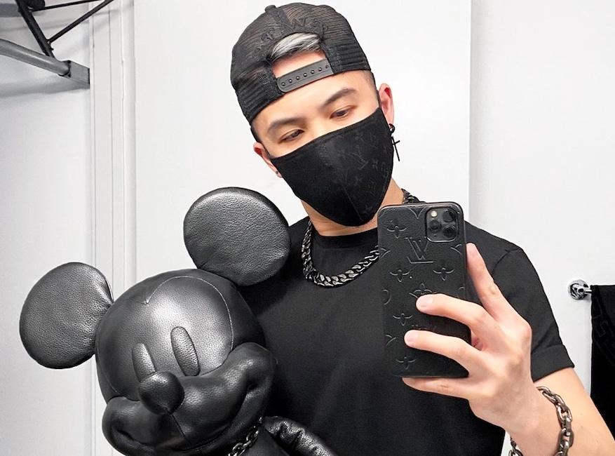 Celebrity face masks, Michael Ngo