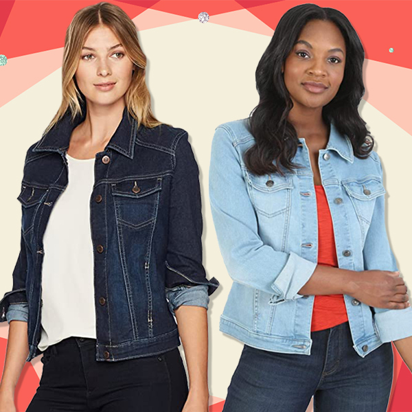 This $30 Stretch Denim Jacket Has 1,500 5-Star Amazon Reviews