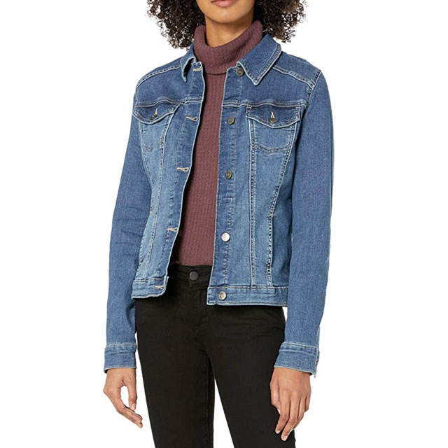 This  Stretch Denim Jacket Has 1,500 5-Star Amazon Critiques