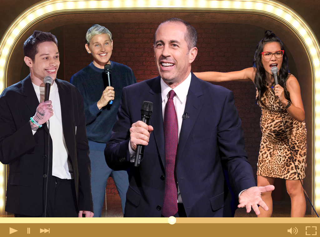 Streaming Stand-Up Comedy, Jerry Seinfeld, Ali Wong, Ellen Degeneres, Pete Davidson