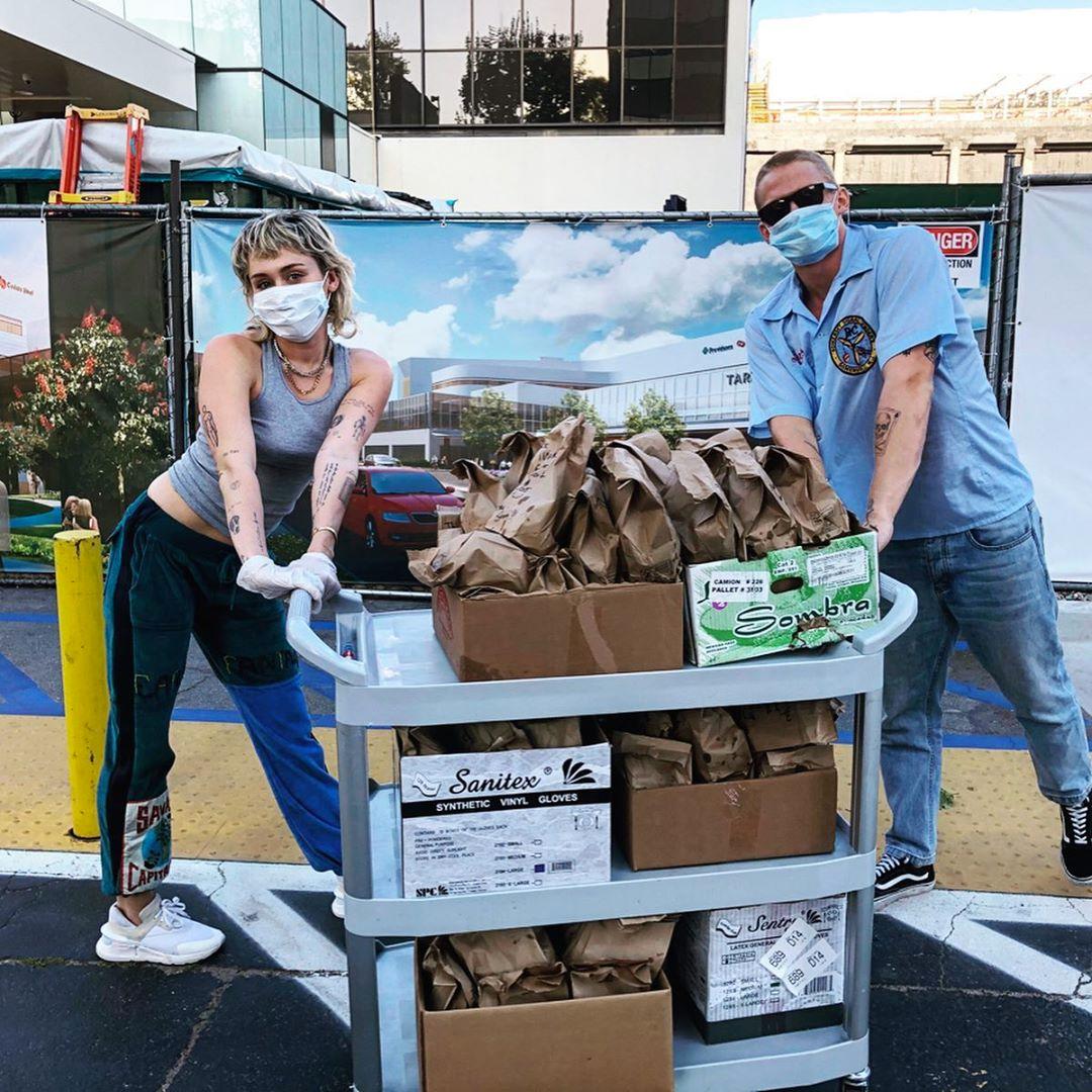 Miley Cyrus, Cody Simpson, Coronavirus, Healthcare Workers, Tacos, Instagram