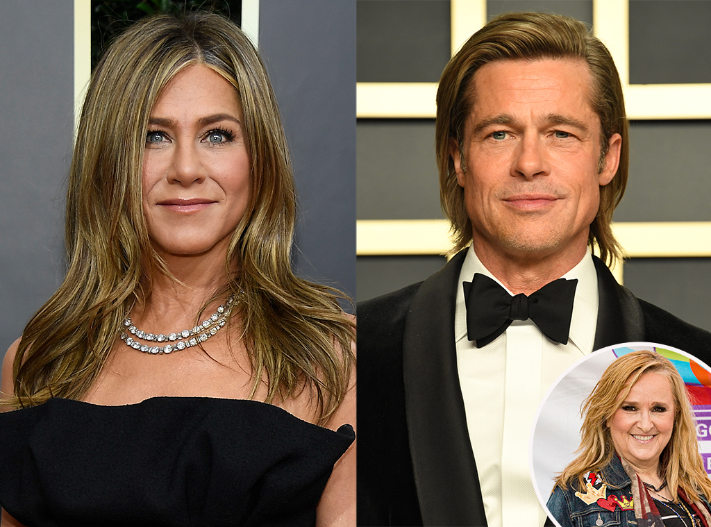 Melissa Etheridge, Jennifer Aniston, Brad Pitt