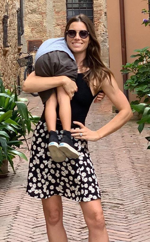 "Jessica Biel and Her ""Little Man"""