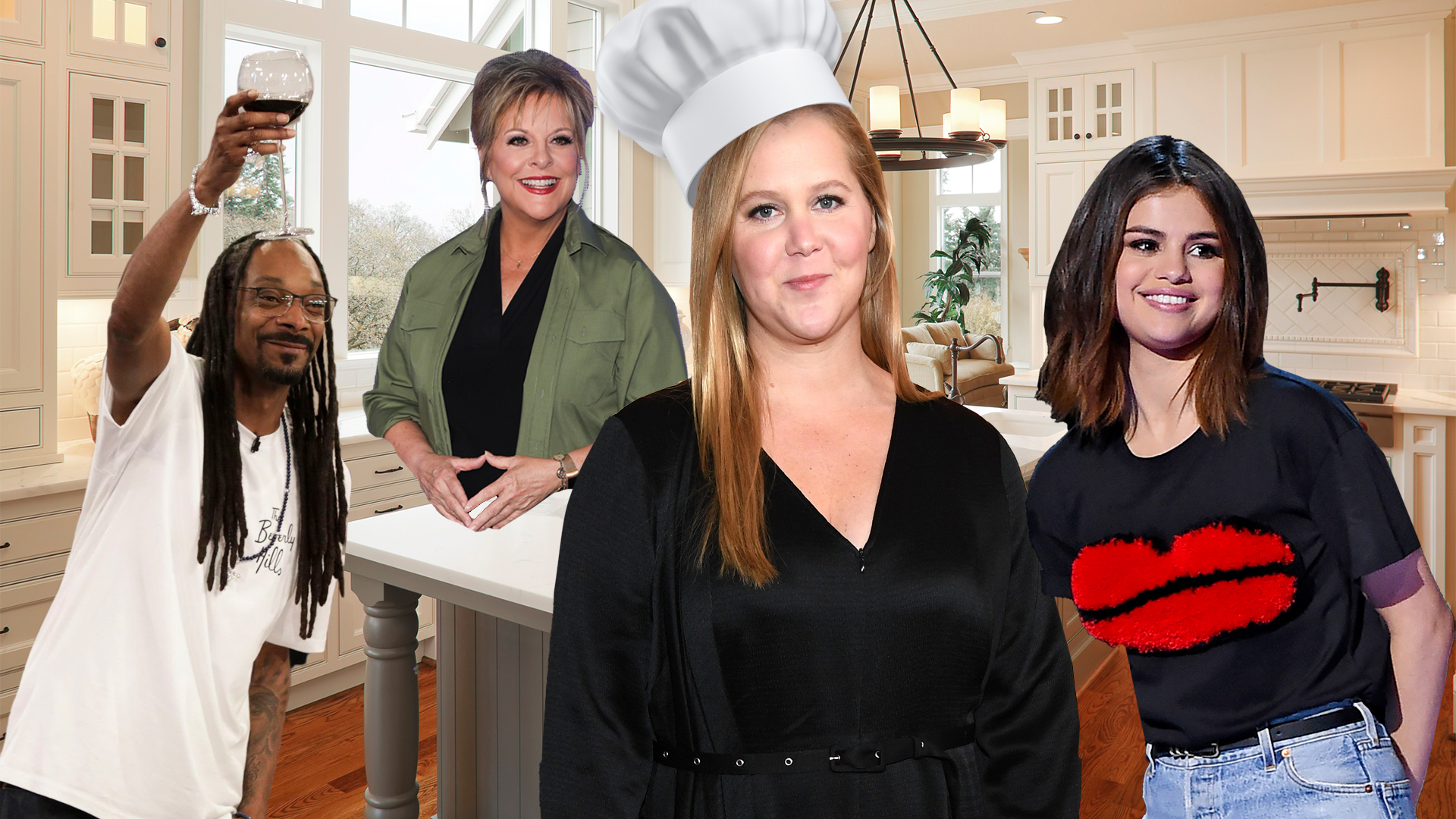 Celebrity Cooking Shows, Amy Schumer, Snoop Dogg, Nancy Grace, Selena Gomez