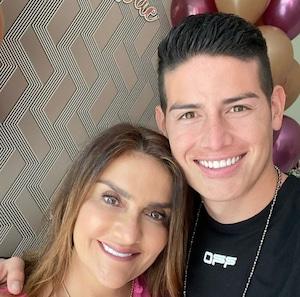 James Rodríguez y mamá