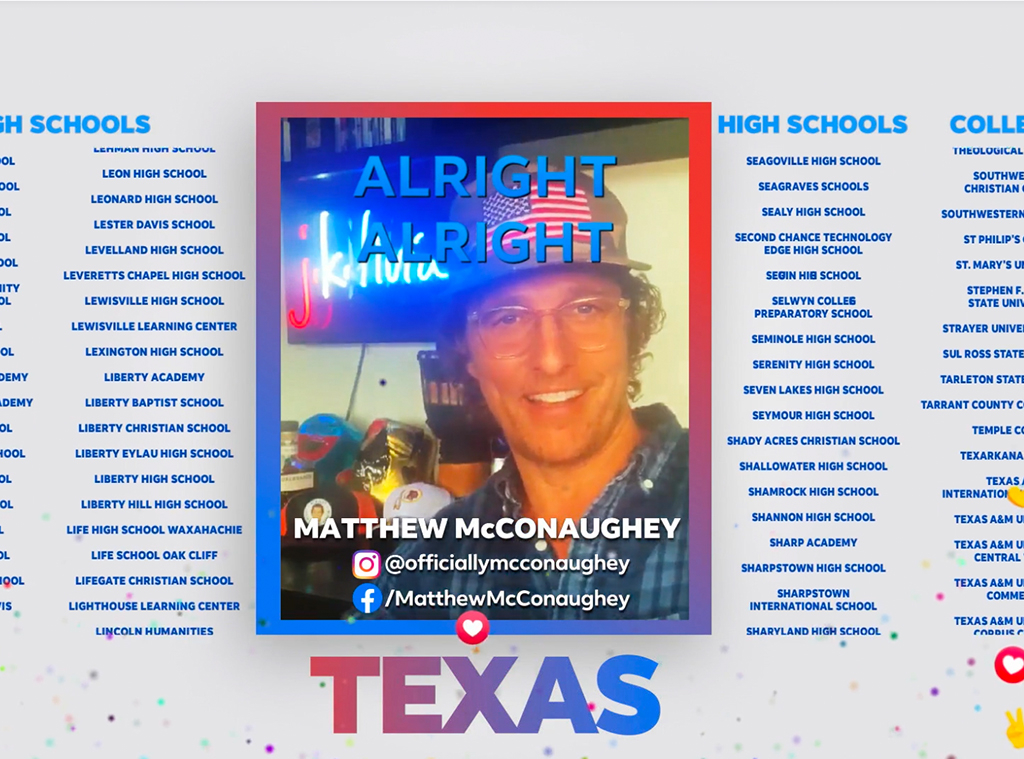 Matthew McConaughey, Celebs Celebrating Graduates