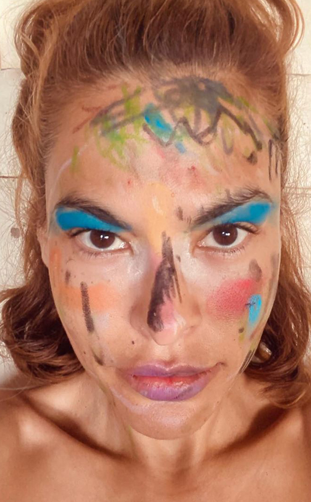 Eva Mendes Shows Off Her Wild Makeover From Her Daughters ...