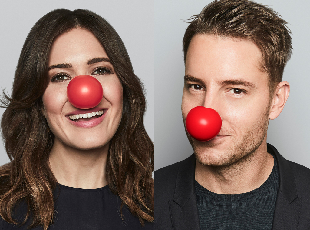 Mandy Moore and Justin Hartley - Red Nose Day