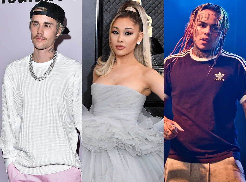 Justin Bieber, Ariana Grande, Tekashi 69
