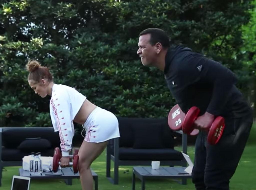 Alex Rodriguez, Jennifer Lopez, At-Home Workout