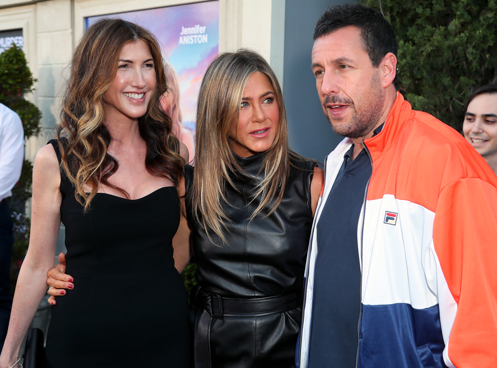 Jennifer Aniston, Adam Sandler, Jackie Sandler