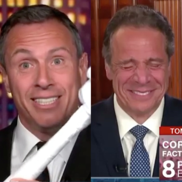 Andrew Cuomo Can T Stop Laughing Over Chris Cuomo S Latest Stunt E Online