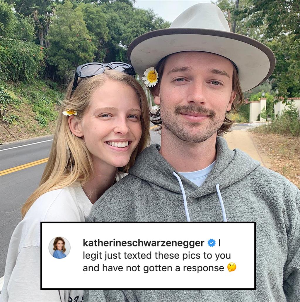 Patrick Schwarzenegger, Abby Champion, Katherine Schwarzenegger, Instagram Comment
