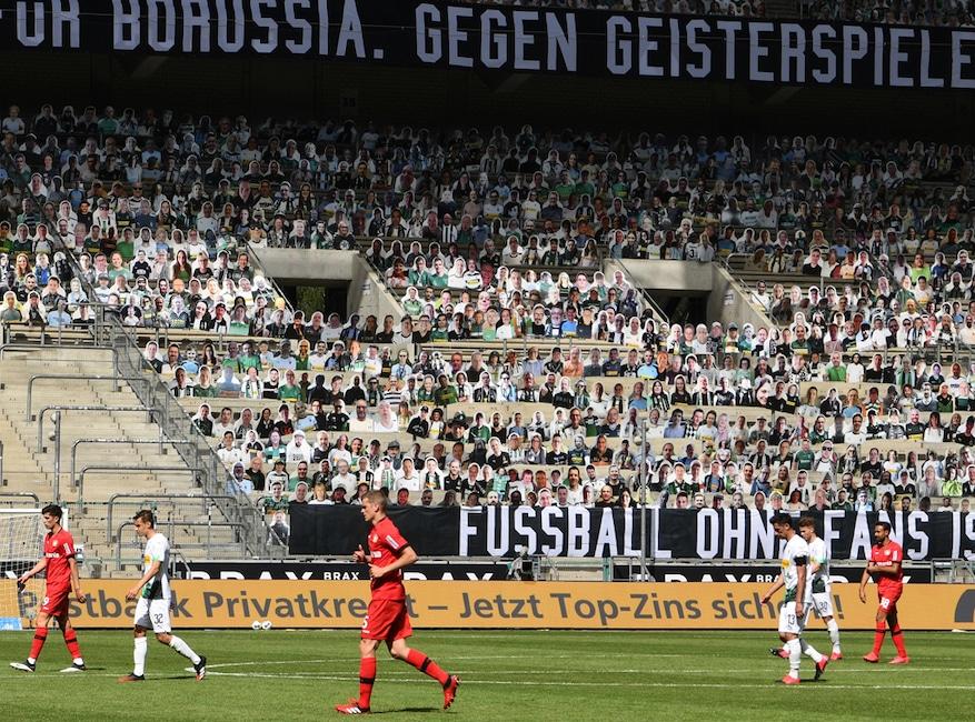 Soccer, Bundesliga League, Cardboard Fans, Sports