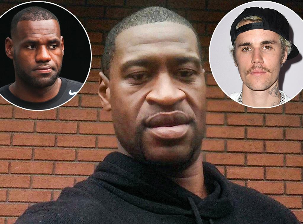George Floyd, LeBron James,  Justin Bieber