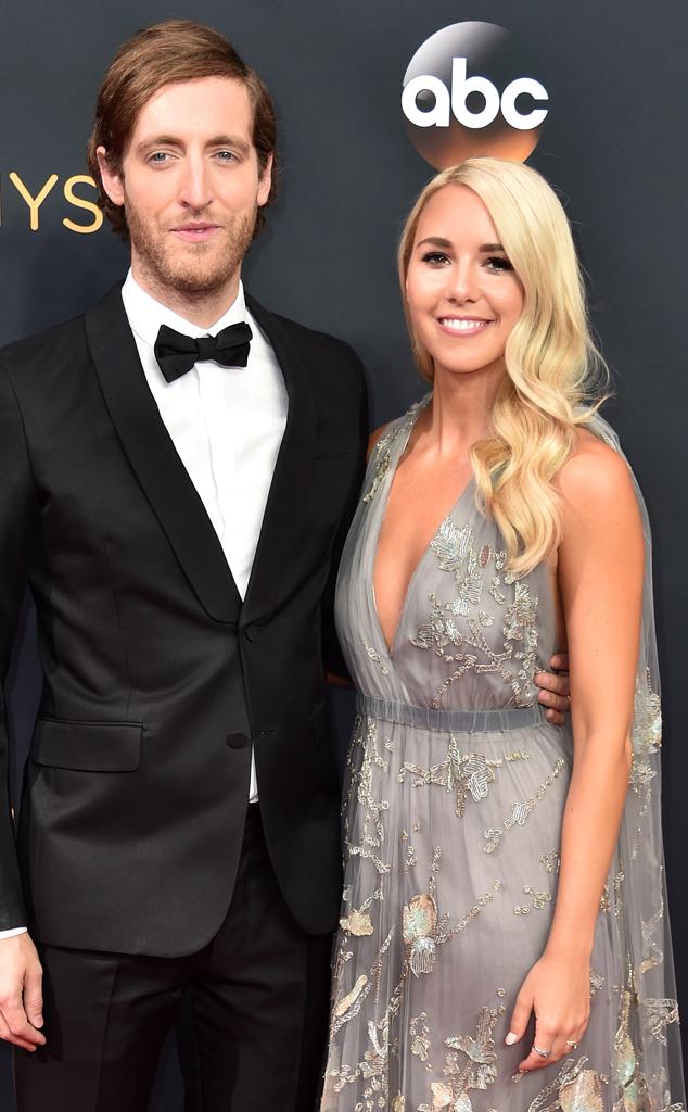 Thomas Middleditch, Mollie Gates, 2016 Emmy Awards, Arrivals, Couples