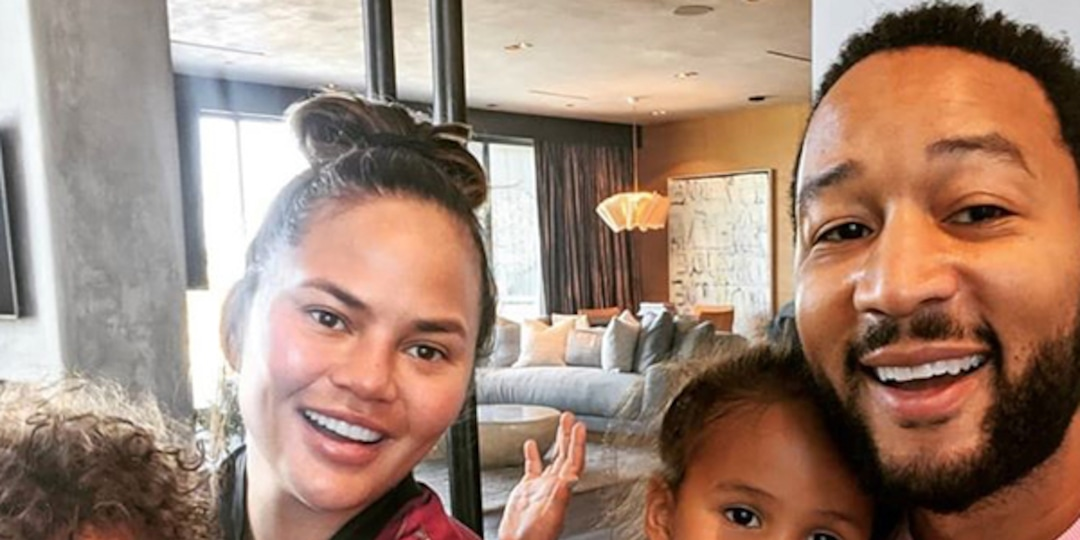 Chrissy Teigen Tears Up While Dropping Luna and Miles Off for First Day of School With John Legend - E! Online.jpg