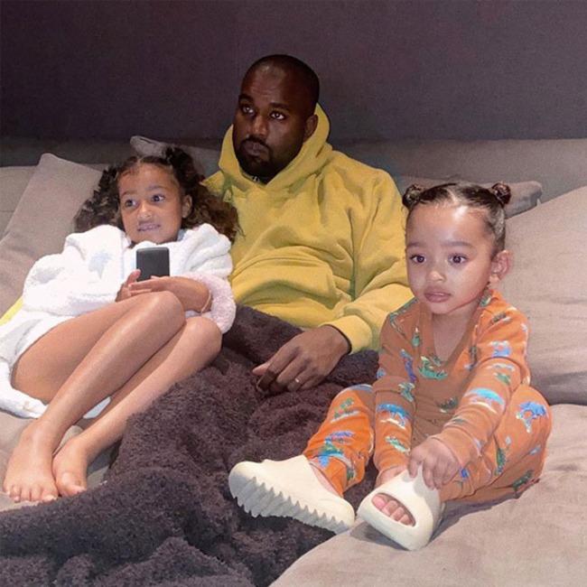 Kanye West, Chicago West, North West, Instagram
