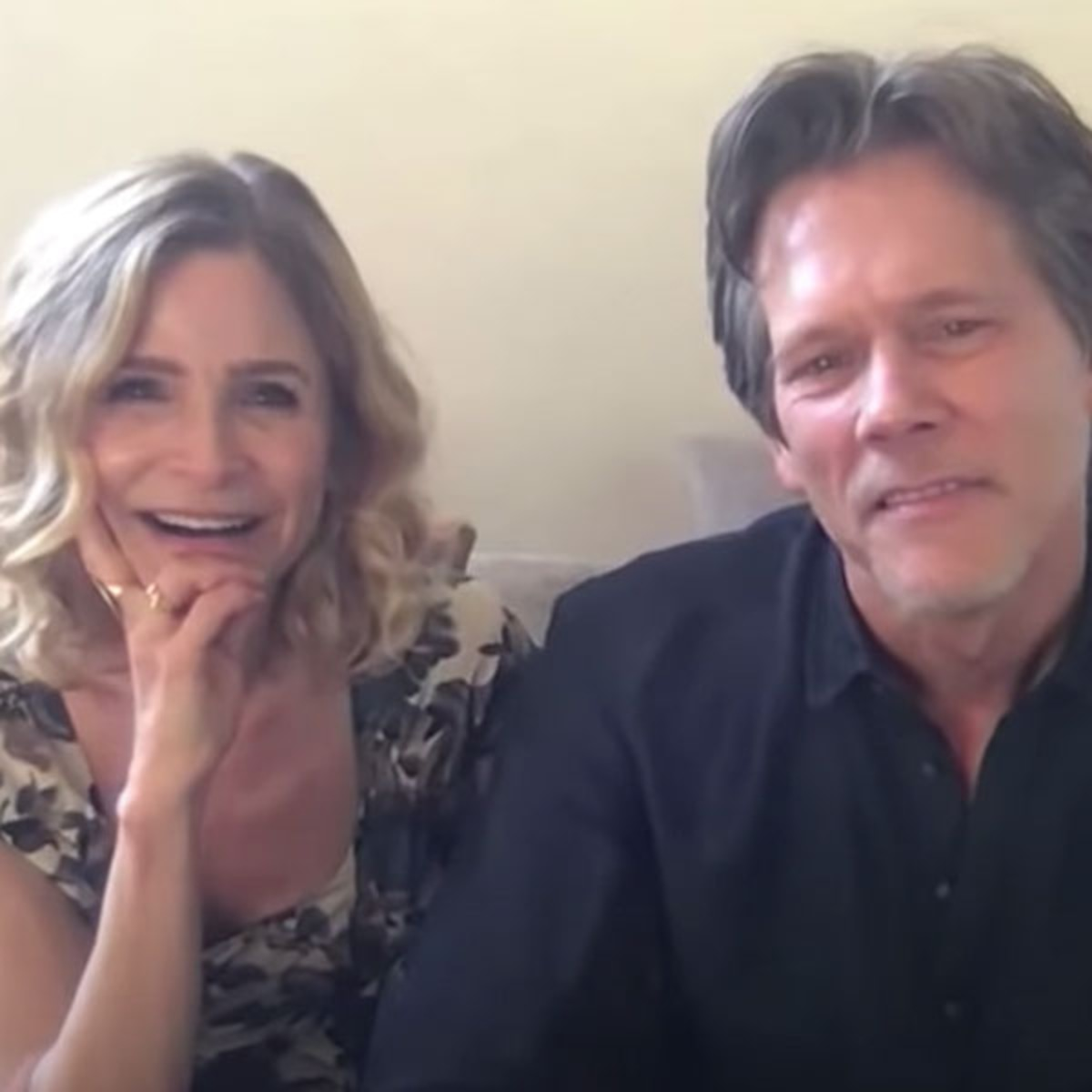 Watch Kevin Bacon And Kyra Sedgwick S Hilarious Dumb Couple Fight E Online Ca He married second and current wife 'molly mcnearney' in 2013. watch kevin bacon and kyra sedgwick s