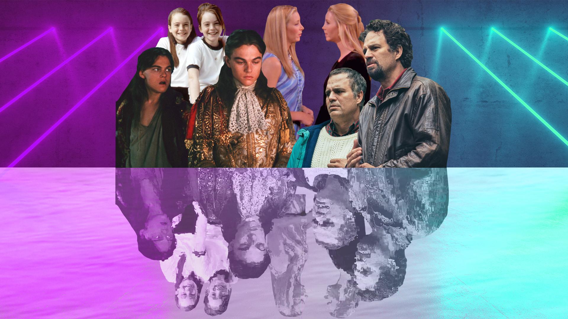 Stars Playing Twins, Mark Ruffalo, Lisa Kudrow, Lindsay Lohan, Leonardo DiCaprio
