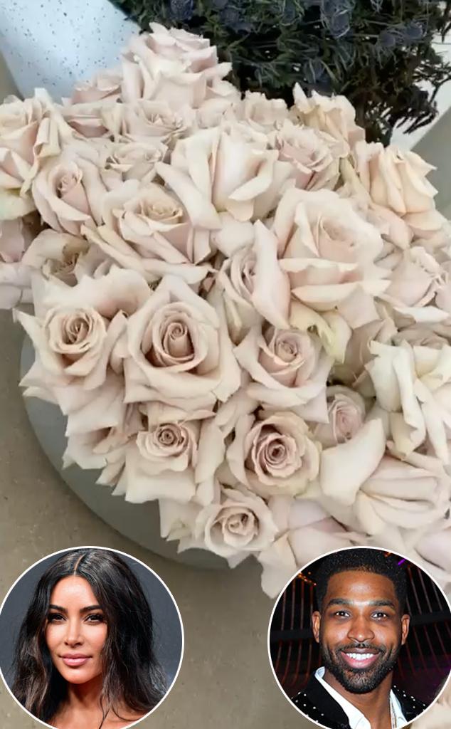 Kim Kardahian, Tristan Thompson, Flowers, Instagram