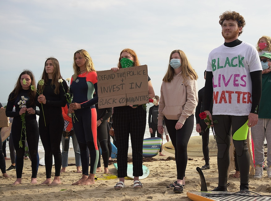 Montauk Paddle Out, Black Lives Matter Protest, BLM