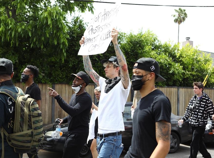 Machine Gun Kelly, Protest