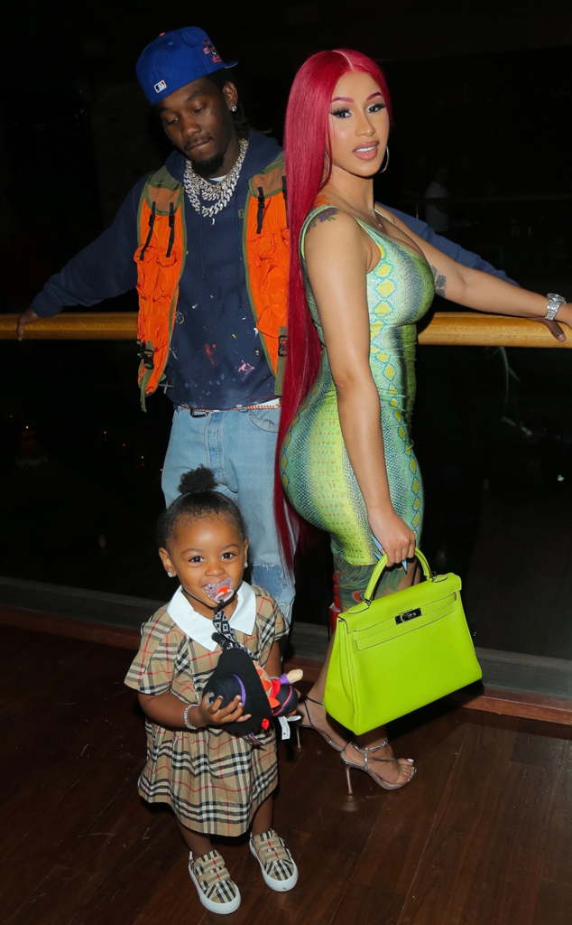 See Cardi B And Offset S Daughter Kulture Cutely Photobomb Her