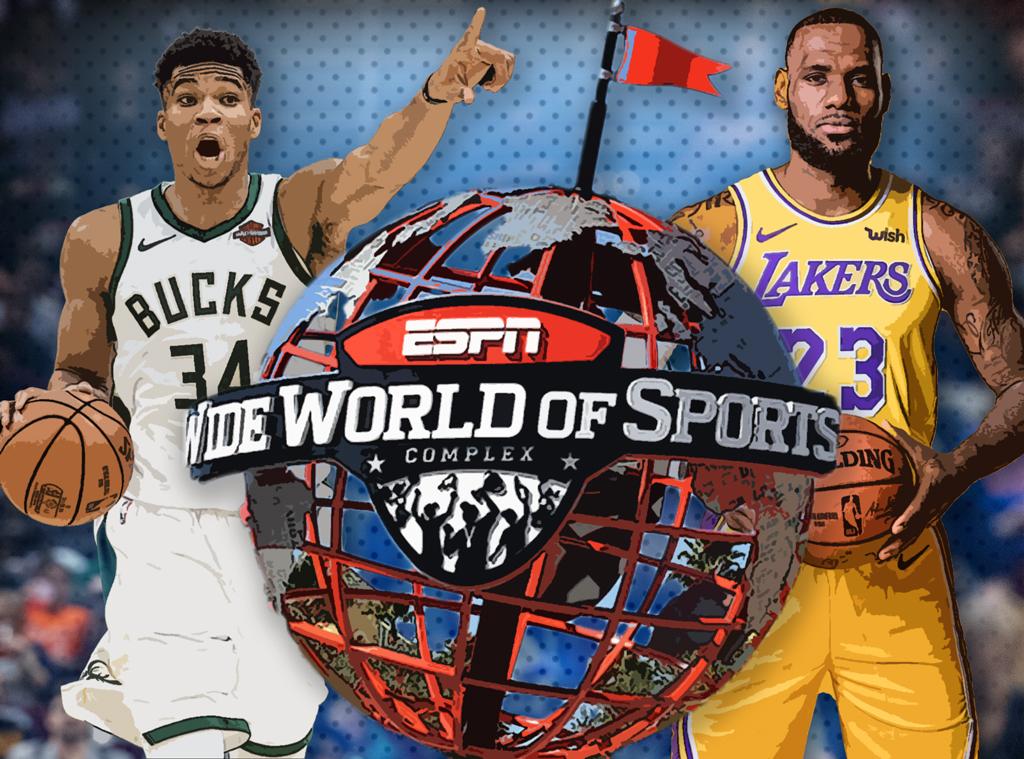 NBA's big return, ESPN Complex, Lebron James, Giannis Antetokounmpo