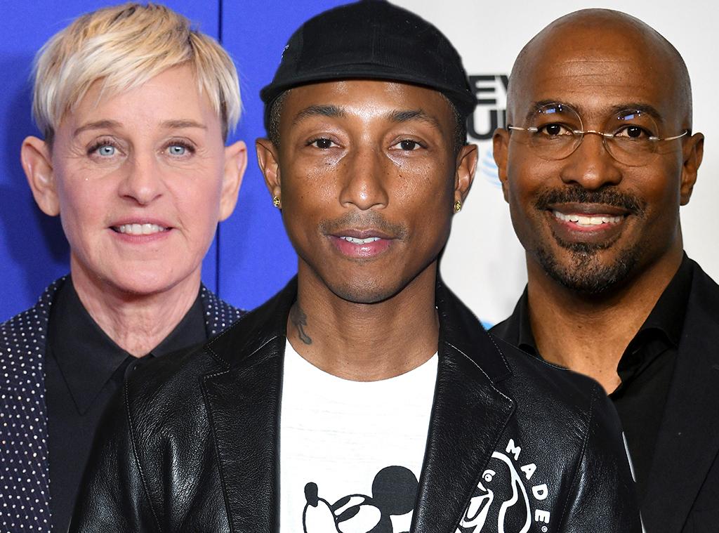 Pharrell Williams, Ellen DeGeneres, Van Jones