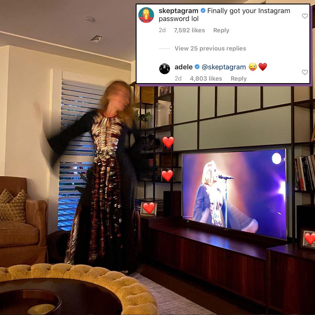 Adele, Skepta, Instagram