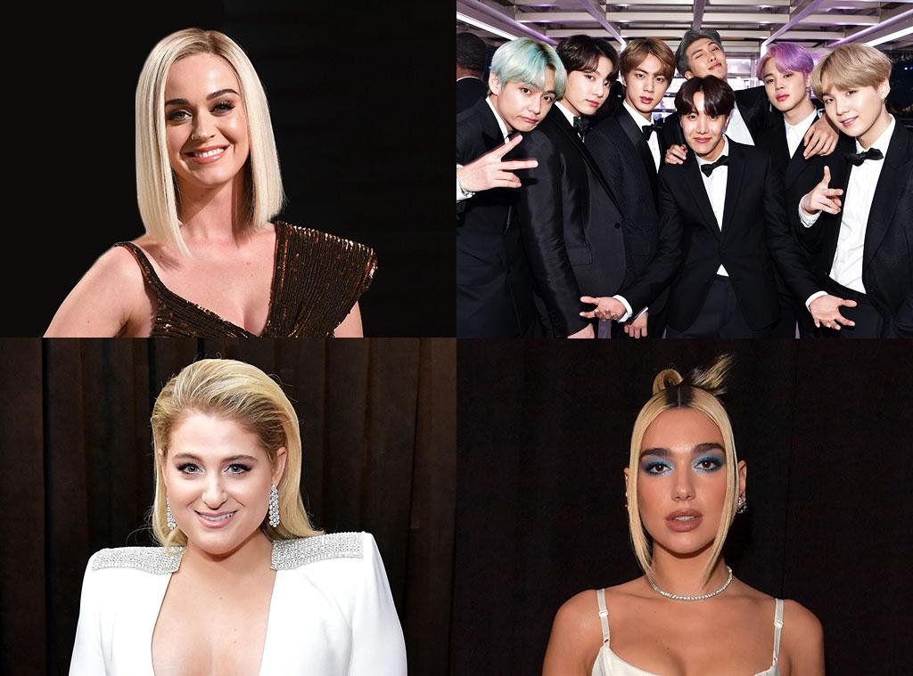 Katy Perry, BTS, Meghan Trainor, Dua Lipa
